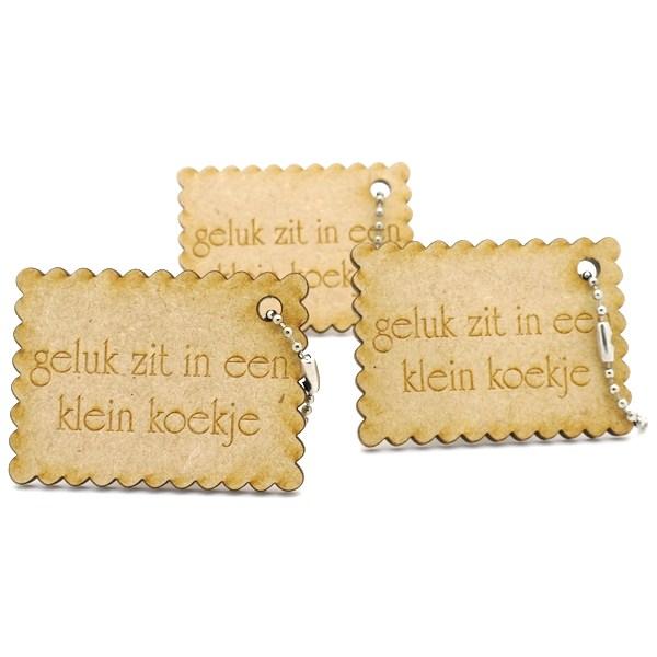 Schlüsselring Holz MDF - PEFC - Ecobos online shop